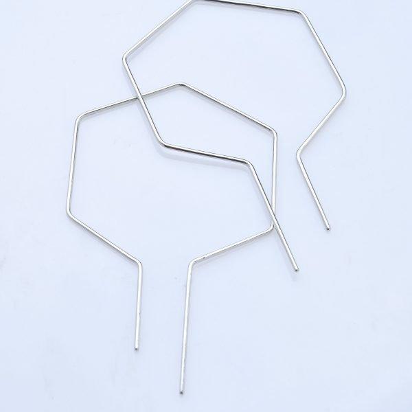 """Meika"" Hexagonal - Argent. 925"