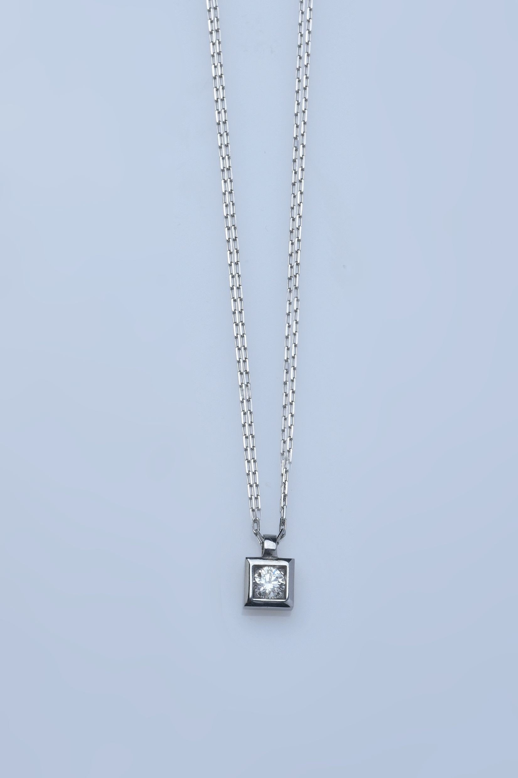 """San Francisco"" - Collier or blanc 18 cts"