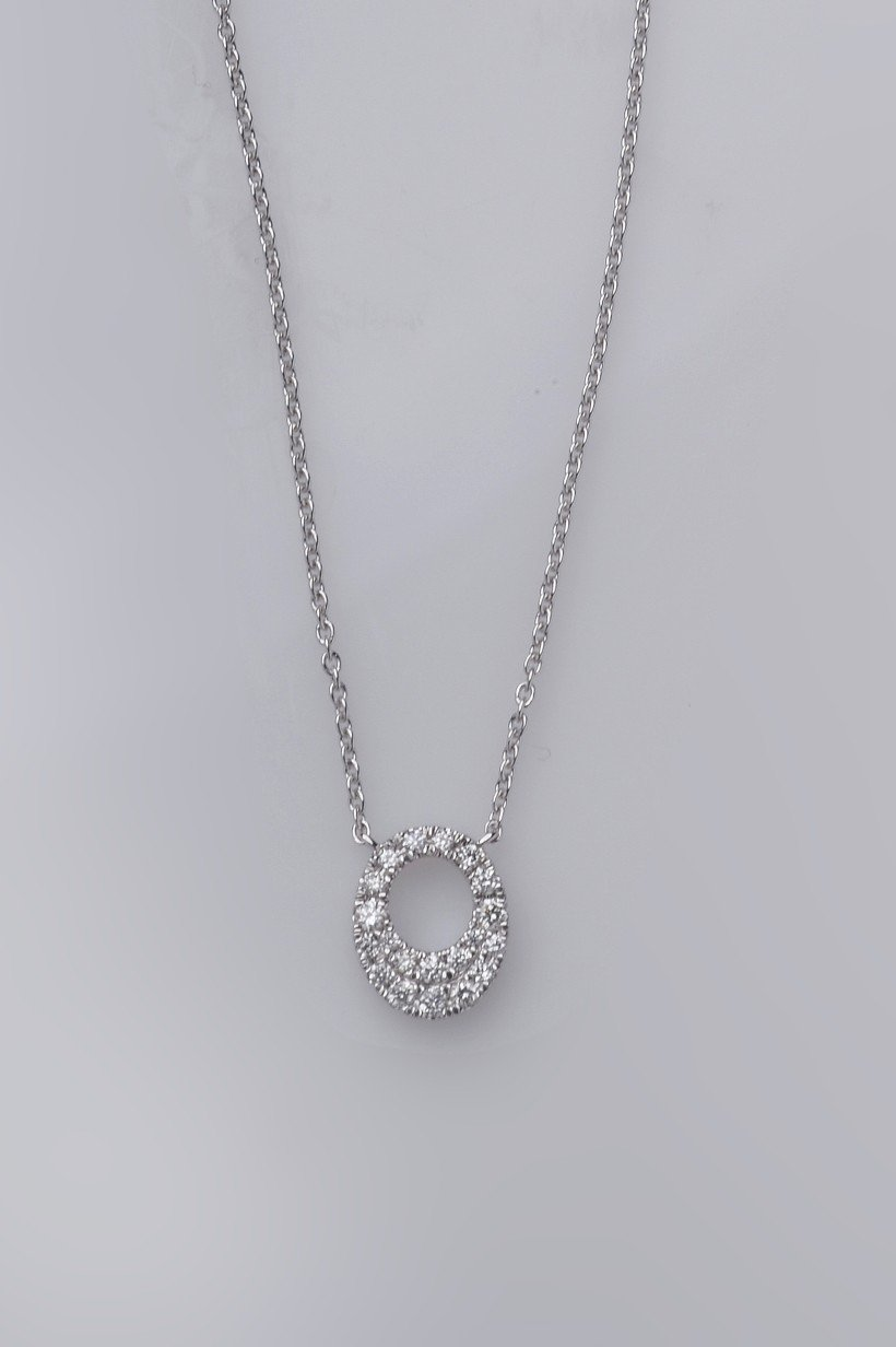 """""""Collier Pemba"""" Or blanc 18cts"""