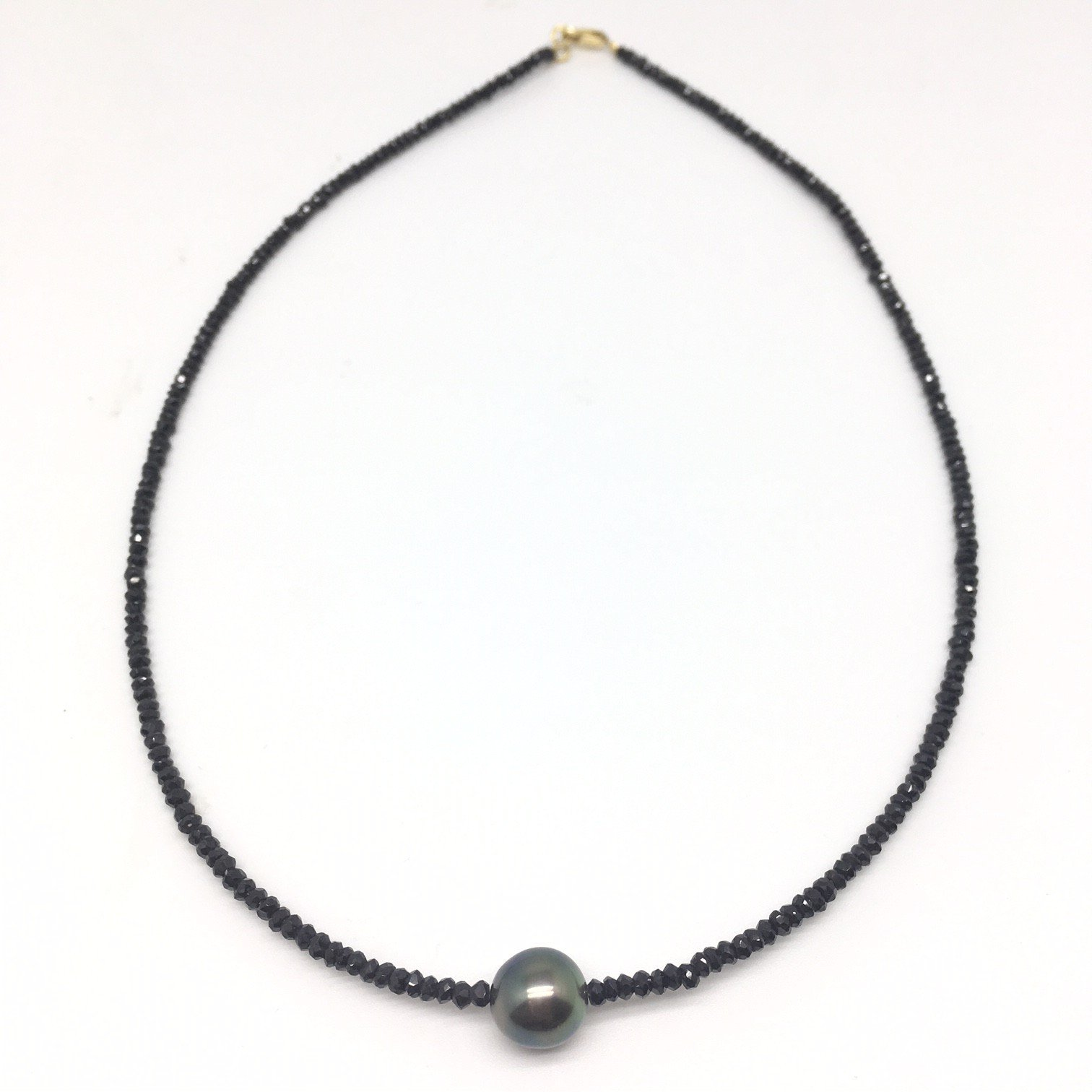 """""""Collier Spinel Perle"""" Or 18 cts"""