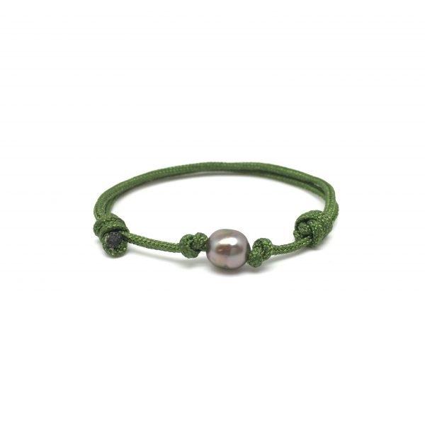 Bracelet BB keishi - Vert kaki