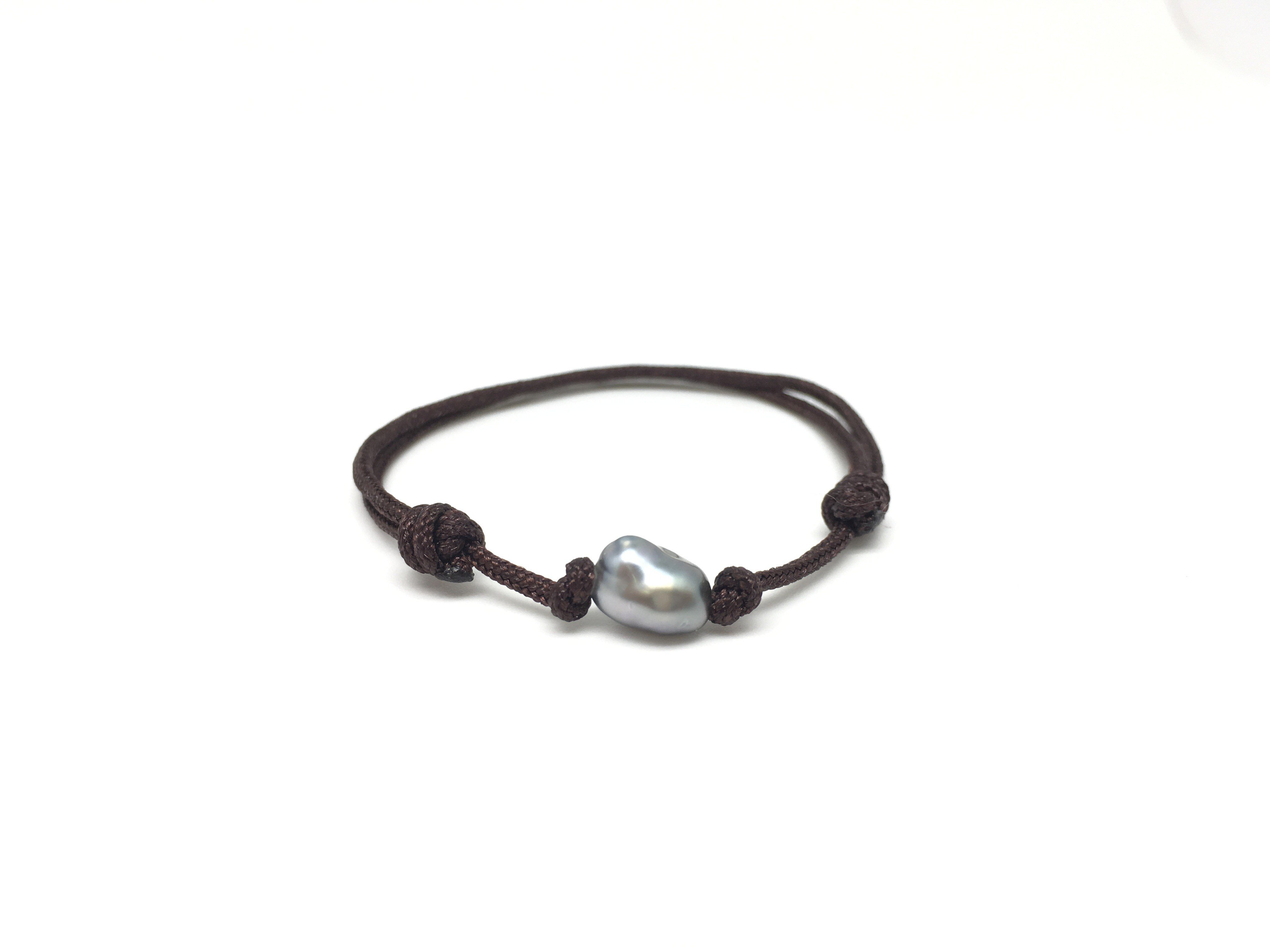 Bracelet BB keishi - Marron foncé
