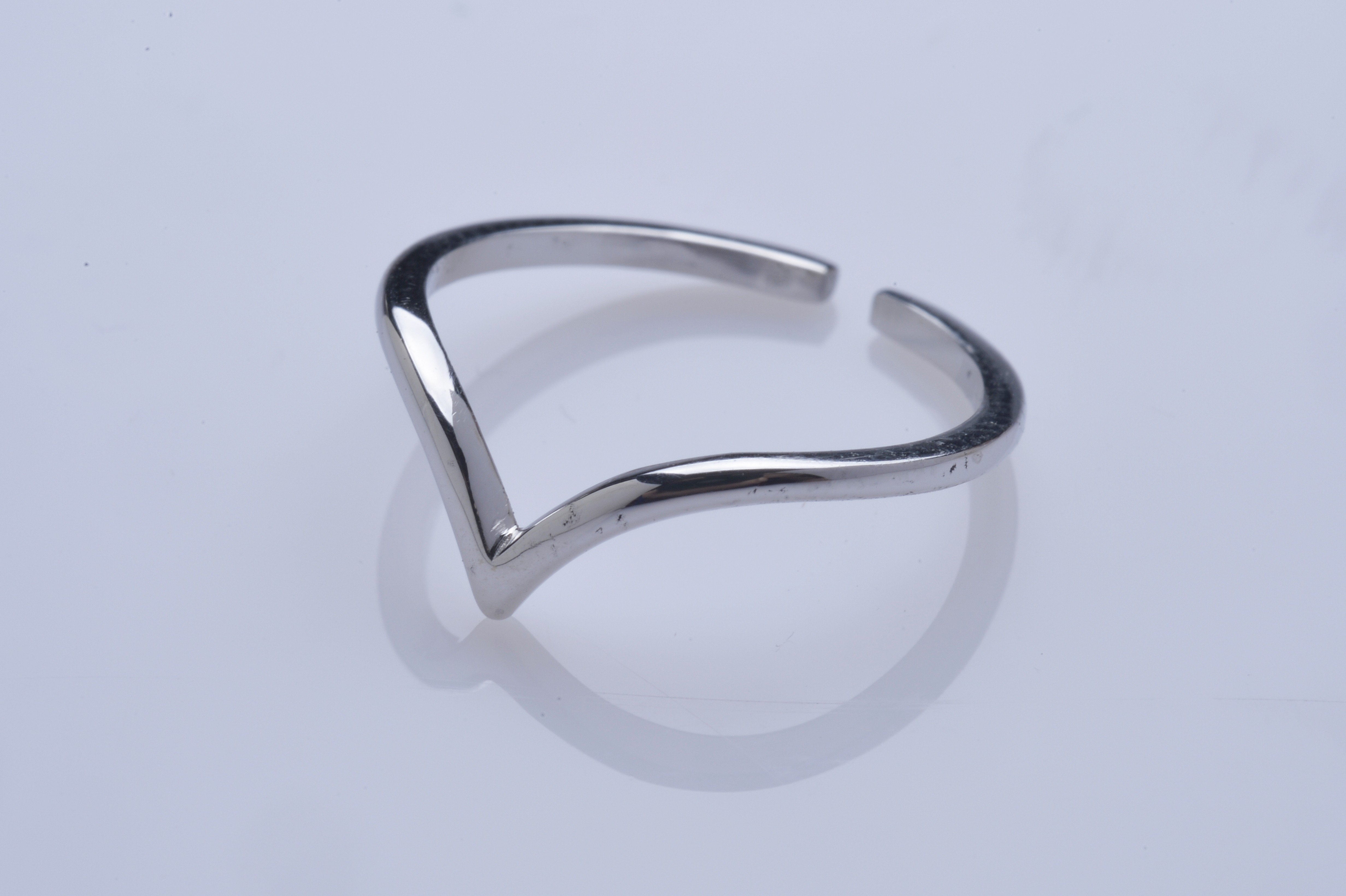 Bague de pied Pointe - Or blc 18 cts
