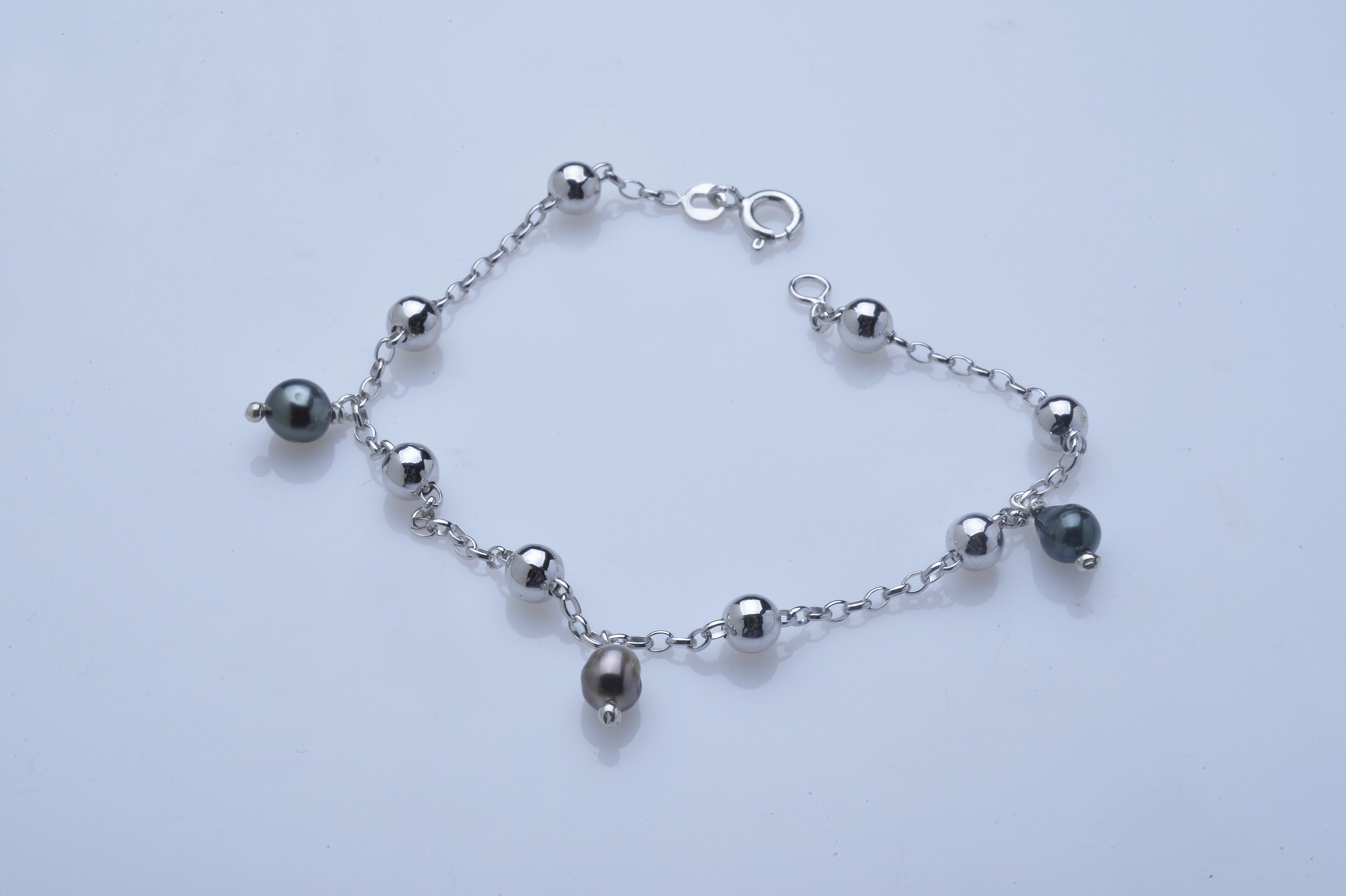 Bracelet 3 keishis breloques - Argent. 925